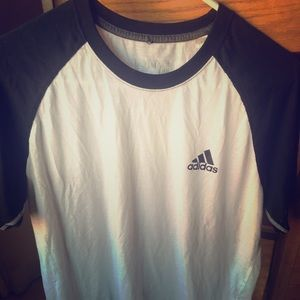 Men's (new adidas) black an white climate shirt